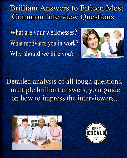 15 most common interview questions and answers book cover