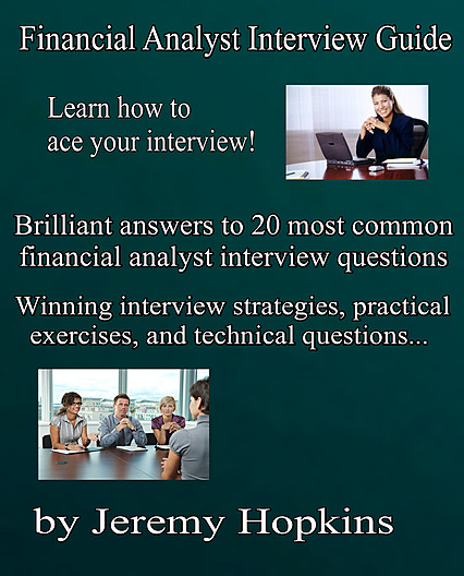 Financial Analyst Interview Guide cover, 2018 edition